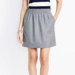 [J. Crew] Grey Wool Sidewalk Skirt